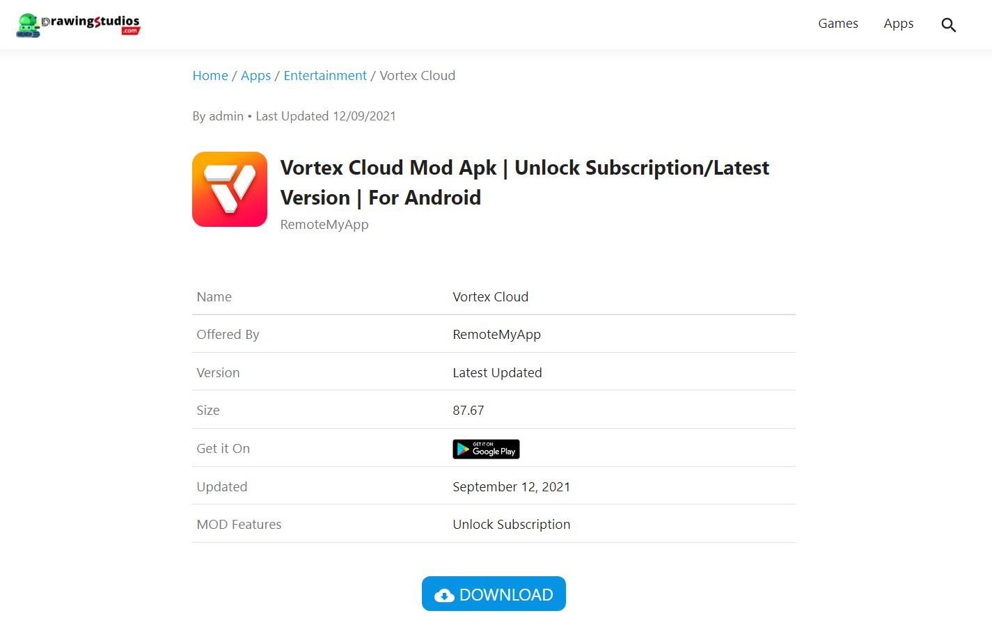Download Vortex Cloud Mod Apk