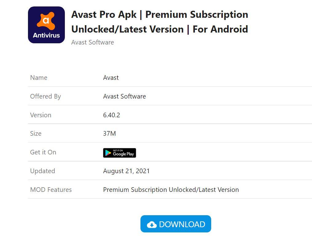 Avast Pro Apk Download